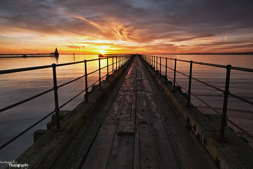 Pier Into The Sun by Dave Brightwell