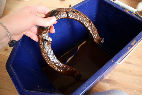 How to clean an old horseshoe life at cloverhill for Old horseshoe projects
