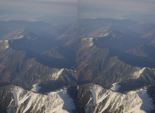 Mount Eboshi, stereo parallel view