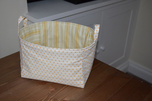 Yellow nursery bucket
