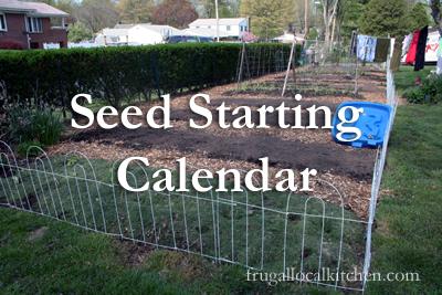 Seed Starting Calendar