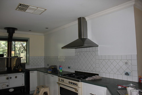 Newly painted Kitchen Wall