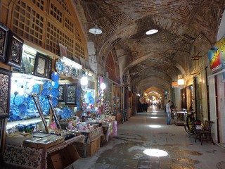 Bazar in the galleries of the square