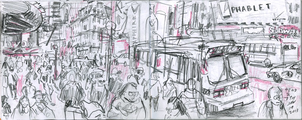 42nd Street. 38th World Wide Sketch Crawl