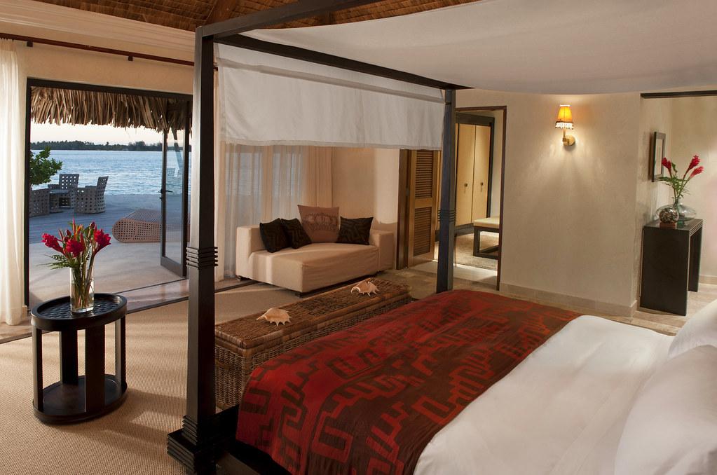 The St. Regis Bora Bora Resort—Royal Estate - Master Bedroom