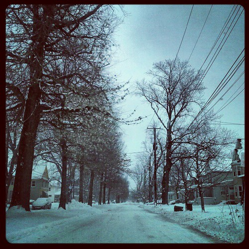 #snow #erie #eriepa #weather #eriegram #winter #moresnowpictures #longroadahead