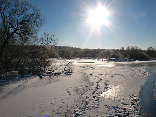 frozen Eskilstuna River
