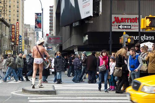 It Must Be Times Square - The Naked Cowboy