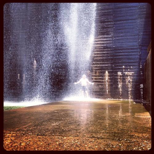 Curtis under the dam