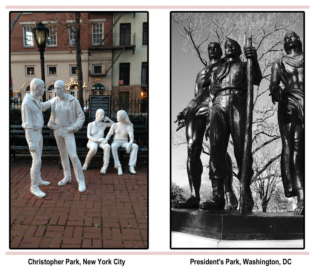 Gay Liberation Monument, Christopher Park, Boy Scout Memorial, President's Park