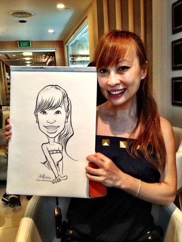 caricature live sketching for Orchard Scotts Dental for Miss Universe Singapore - 15