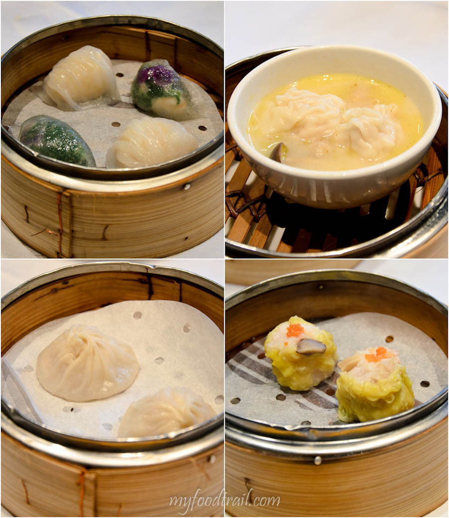 Cuisine Cuisine, The Mira, Hong Kong - Har gao & prawn & vegetable dumpling, shrimp wonton in spicy soup, xiao long bao, siu mai