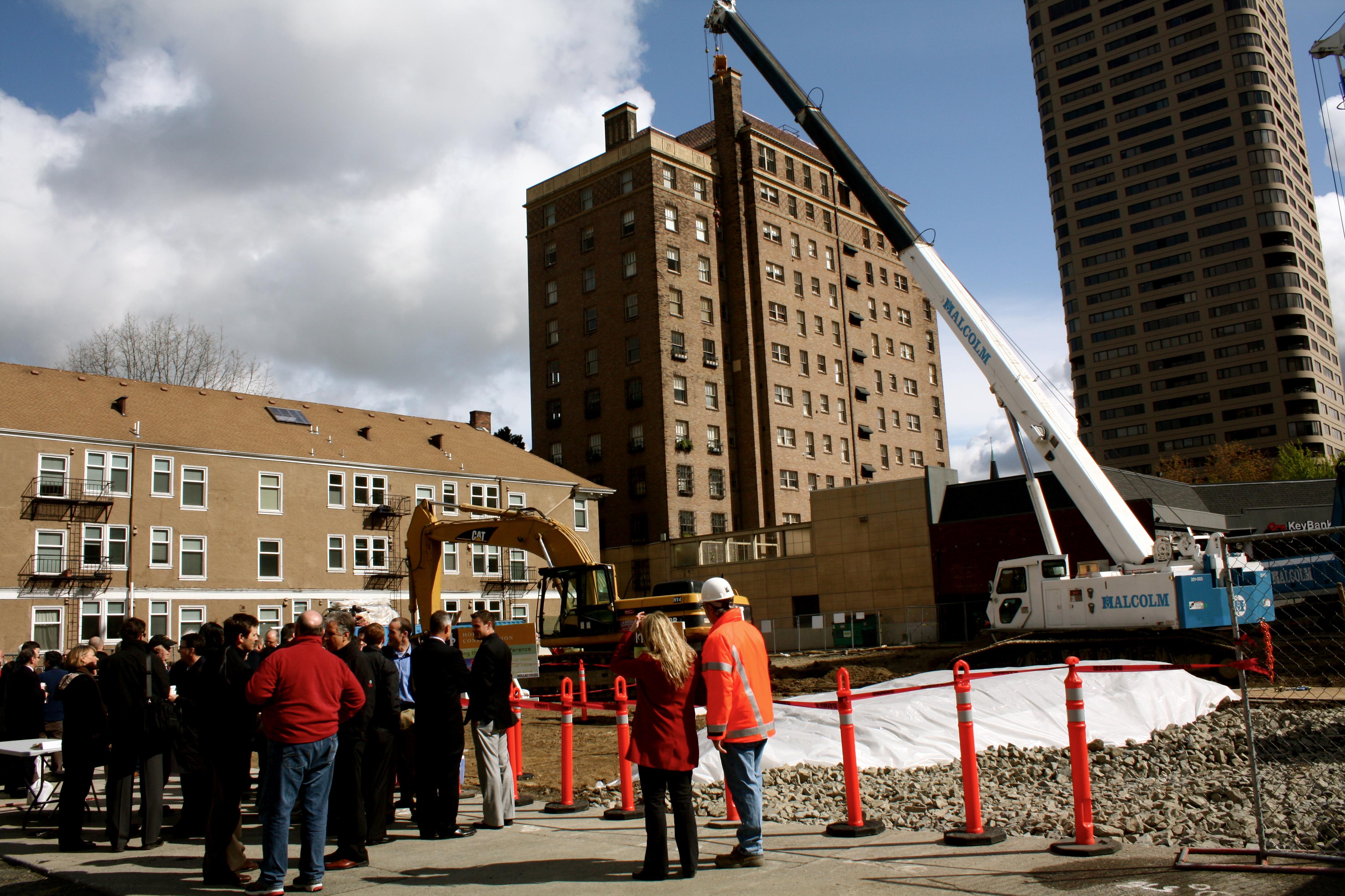 chs pics first hill breaks ground on its first high rise