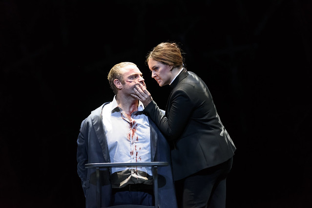 Joseph Calleja as Pollione and Sonya Yoncheva as Norma in Norma, The Royal Opera © 2016 ROH. Photograph by Bill Cooper