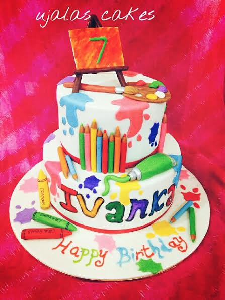Colorful Birthday Cake by Ujala Ijaz