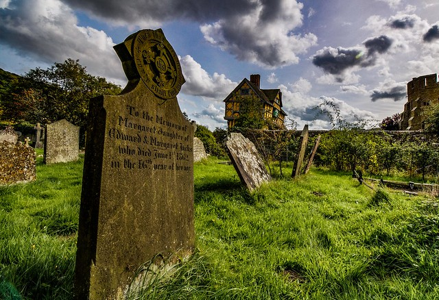 Stokesay castle from the cemetery
