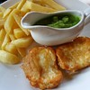 Vegetarian fish and chips