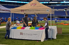 Riley at IU Health participated in on field activities during the 13th annual Bleed Blue Blood Drive.