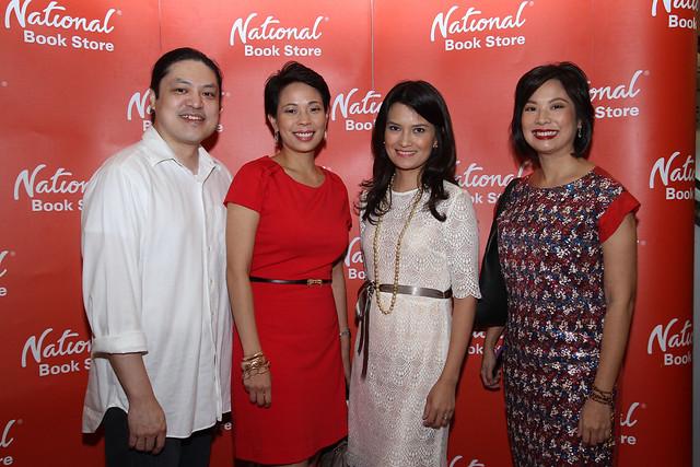 National Book Store's Miguel Ramos, Trina Alindogan, Daphne Oseña-Paez and Xandra Padilla