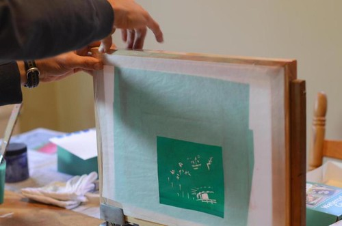 Silk Screening Christmas 2012
