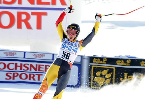 Marie-Michèle Gagnon finishes 13th in super-G in St. Moritz, Switzerland.