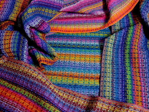 Handwoven Rainbow Towels