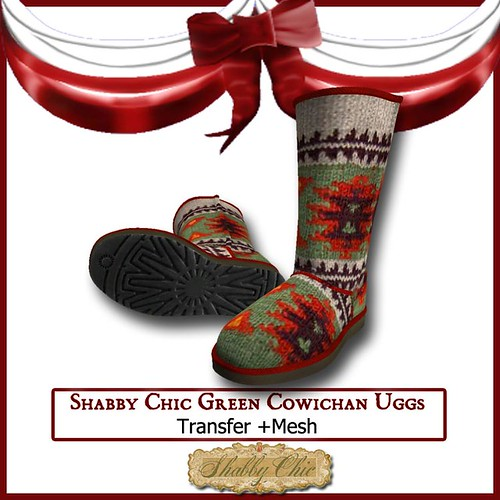 Shabby Chic Green Cowichn Uggs by Shabby Chics