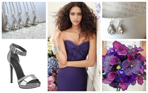 {Purple + Silver} Bridesmaid's Style by Nina Renee Designs