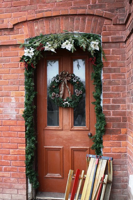 farmhouse christmas front door