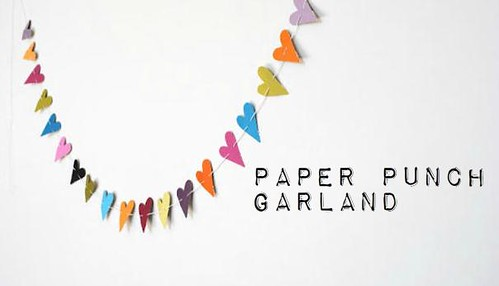 paper punch garland diy