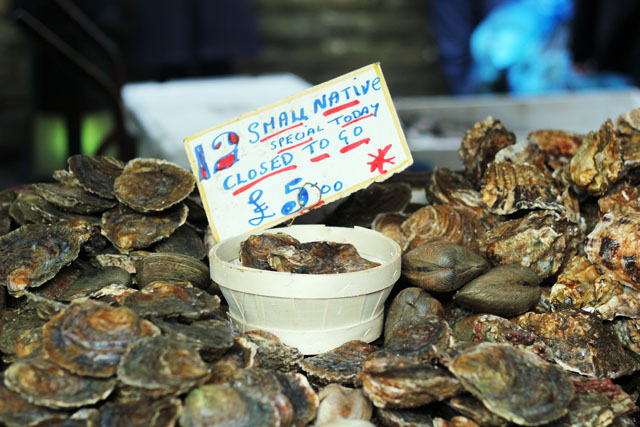 Oysters at Borough Market