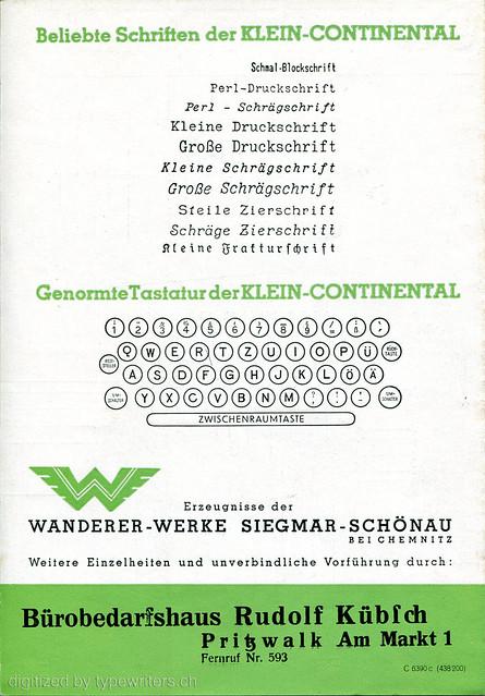 Klein-Continental typefaces p.3