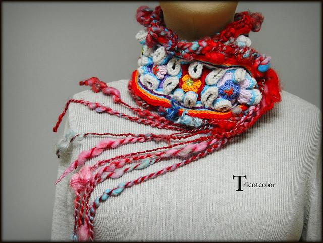 Gorgeous Knit Neckwear Designed By Hélène Seners aka Tricotcolor