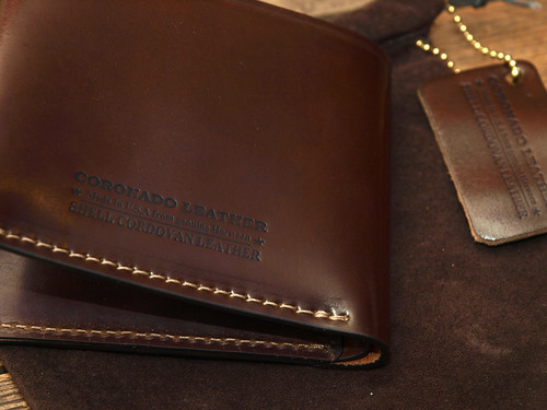 Coronado Leather  / Shell Cordovan Wallet
