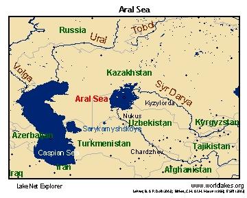Mapa del Mar de Aral