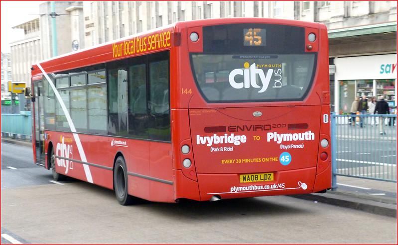 Plymouth Citybus 144 WA08LDZ