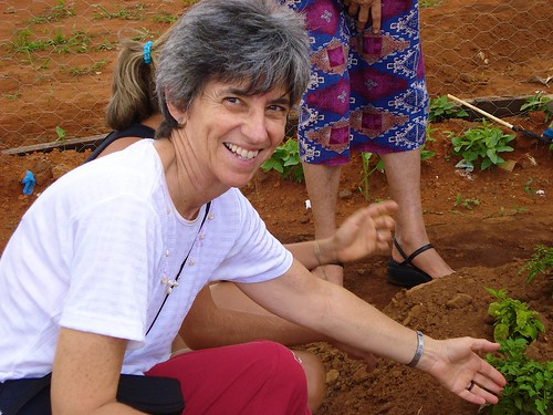Margie Buttitta at the Real Conquista Family Community Gardens Project