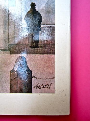 John Alcorn / Lucio Mastronardi, Gente di Vigevano, Rizzoli 1975. Prima di sovracoperta (part.), 1