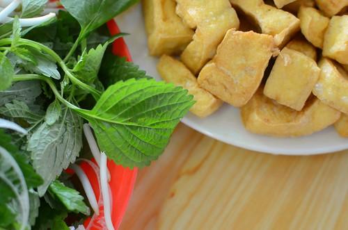 tofu and herbs