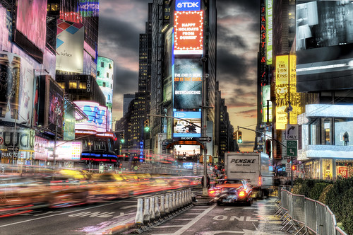 Times Square Rocking by Tony Shi.