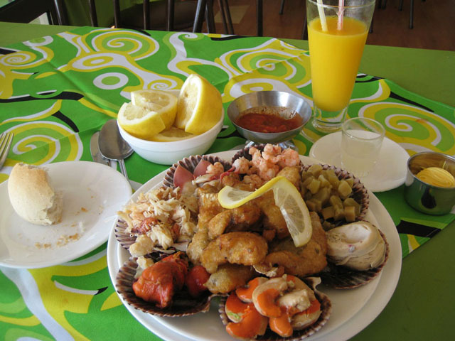 Chilean seafood platter