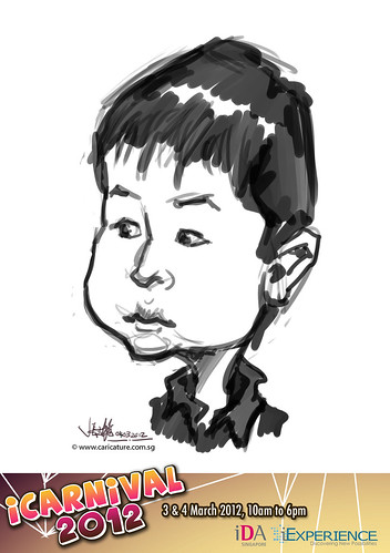 digital live caricature for iCarnival 2012  (IDA) - Day 2 - 19
