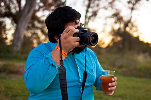 camera blue wedding sunset orange beer shirt canon austin texas photographer dof aaron joe mindy manor terradorna mindyandaaron