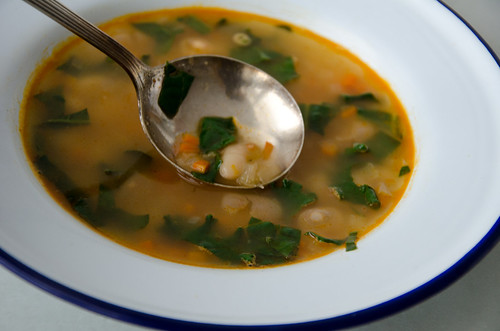 a spoonful of soup