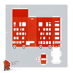 anton's new high-rise london bus christmas card, seier+seier 2012