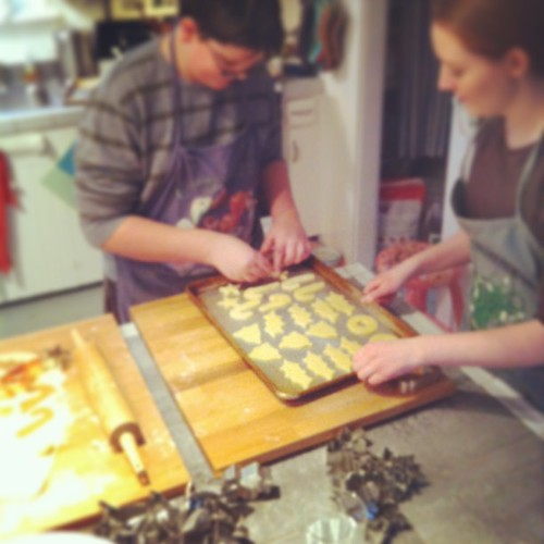 they have cookie-making down to a science #teens #yule #fromourkitchen