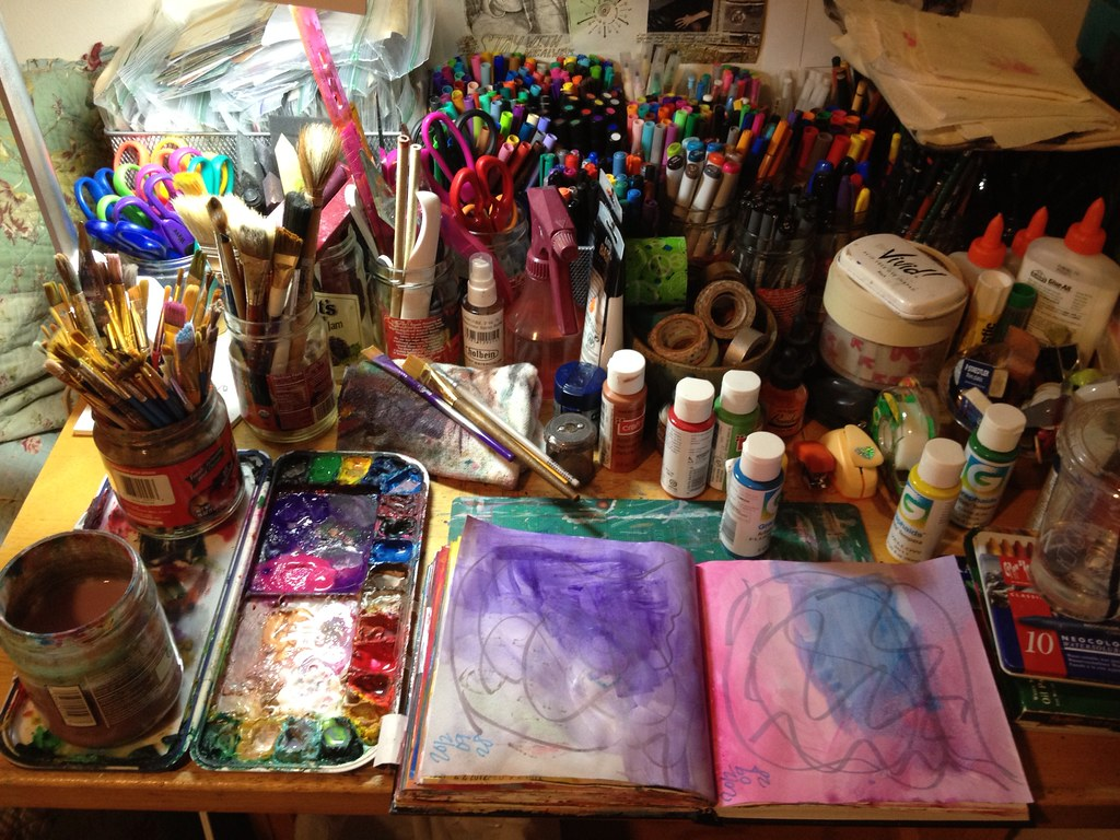 art journaling space.
