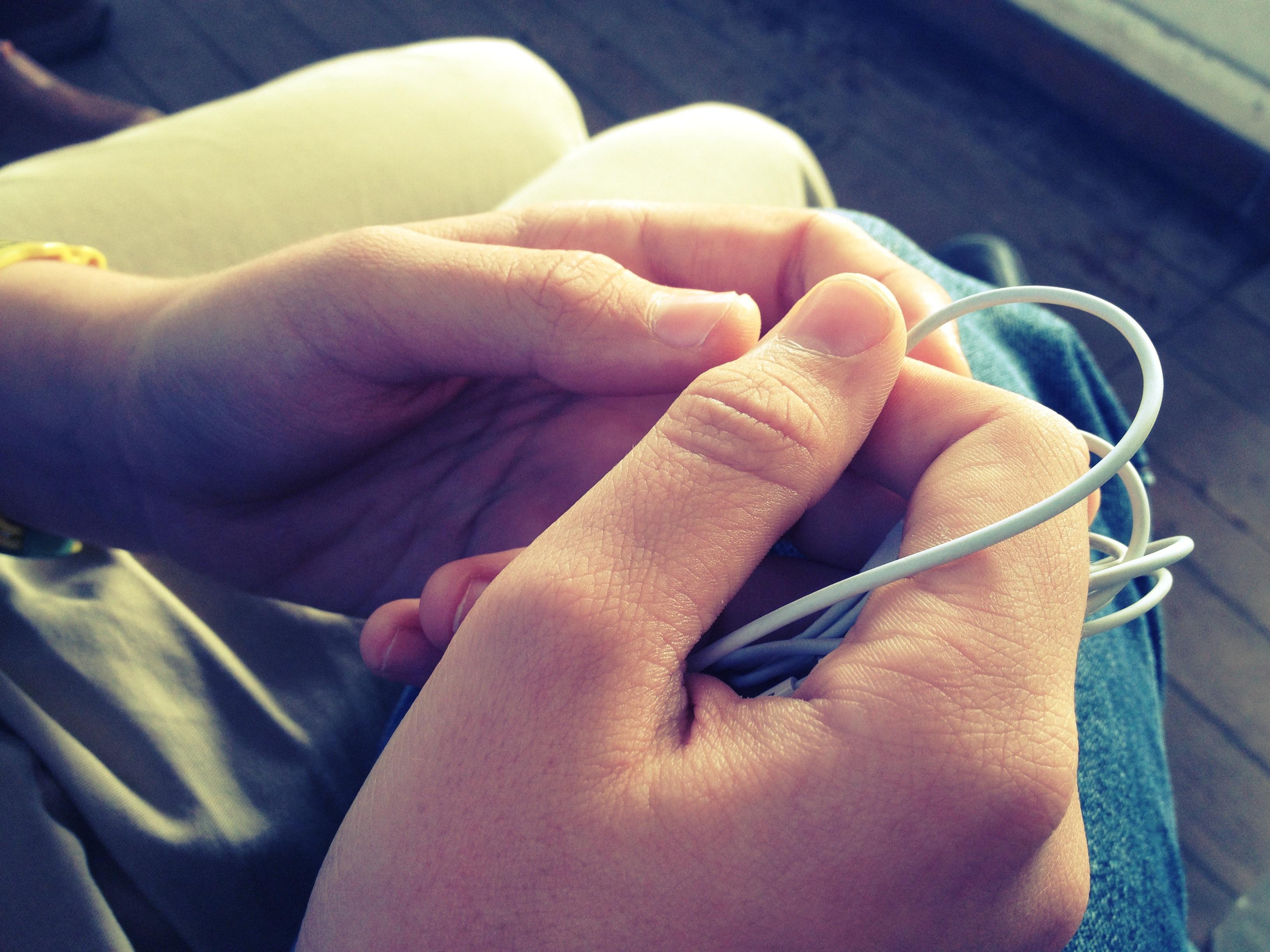 Oliver's hands