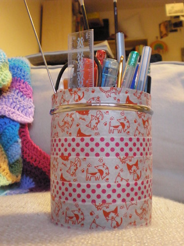 Washi Tape Pen Pot