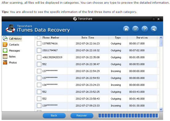 iPad Data Recovery step 2